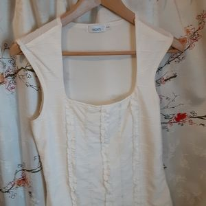 White form fitting tank top